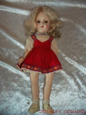 Pretty Vintage Blonde P-90 Toni Doll In Original Red Dress
