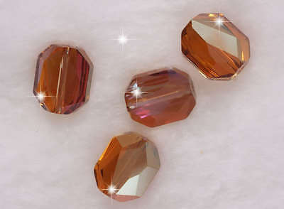 4 Swarovski Graphic Bead 5520 12 mm Crystal Copper                  aaa