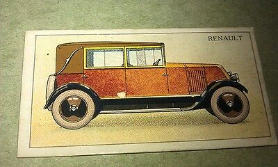 1928 RENAULT  United Tobacco Co. South Africa Cigarette Card RARE