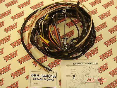 1950 Ford passenger car V8 cowl wire loom 1950 ford passenger car v8 cowl wire loom wiring harness coupe