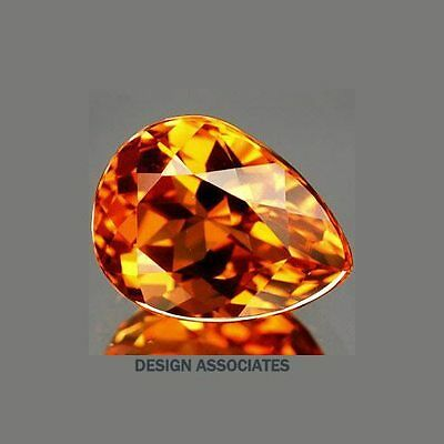 Natural Madeira Citrine 15X10 Mm Pear Cut