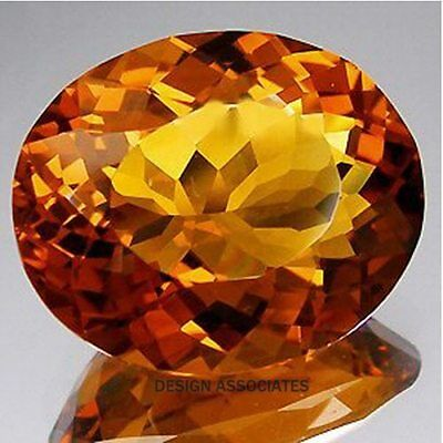 Natural Madeira Citrine 9X7 Mm Oval Cut