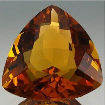 Natural Madeira Citrine 8 Mm Trillion Cut
