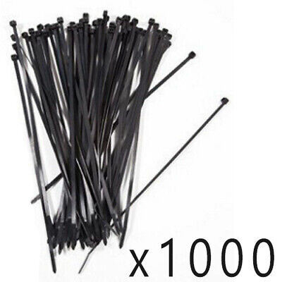 "1000 Pack Lot Pcs - 12"" Inch UV Resistant Nylon Cable Zip Wire Tie 40 lbs Black"