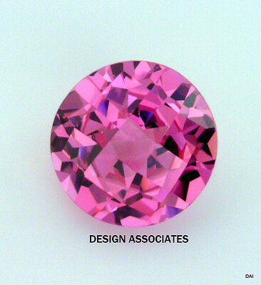 10 MM Round Man Made Pink Sapphire HOT COLOR