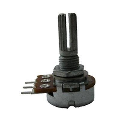 16mm Potentiometer Log 100K Variable Resistor (2 Pack)