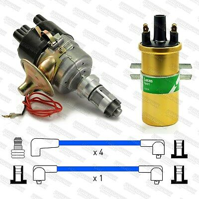 Sports Mini Metro A+ 59D Electronic Distributor, Sports Coil & Blue HT Leads