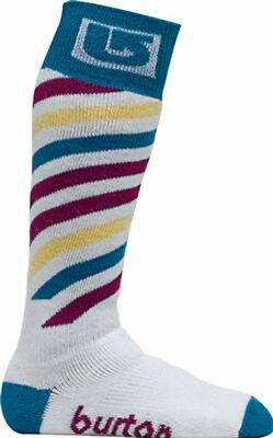 Burton Snowboard Ski Socks Girls Stripe Sizes 13 - 1 and 2 - 4 (Youth) NEW