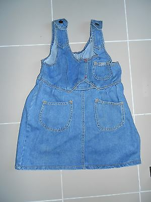 4 X Bulk New Cute Girls Denim Blue Dresses Toddler Suit 5-7 Year Old Pinafore