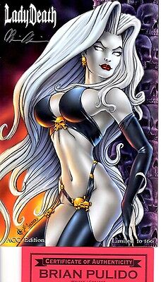 Lady Death ACC Limited to 166 copies signed Brian Pulido COA FREE UK POST NM