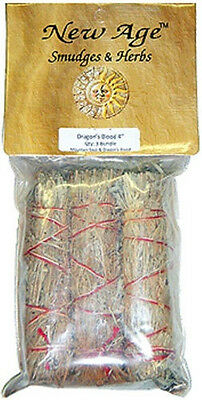 """3 Pack Dragon's Blood Smudge Stick: 4"""" (Herb House Cleansing Negativity Removal)"""