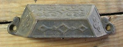 Victorian Cast Iron Drawer Pull-Old-Beautiful-Original