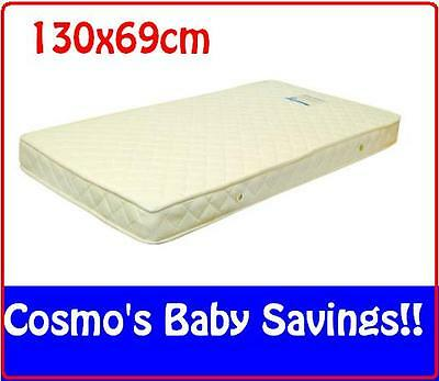 Brand New Baby Cot Inner Spring Mattress withCotton/Polyester Blend Cover