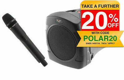 Doss PM55UHF Portable Rechargeable PA Sound System Microphone/Speaker SD/USB/mp3