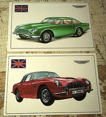 ASTON MARTIN DBS & DB6  - Famous Cars by Top Sellers Ltd UK Trade Cards