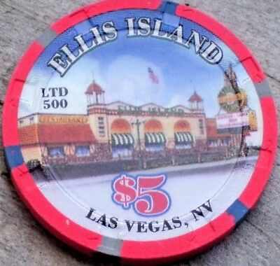 $5 Limited New Years 2008 Gaming Chip From Ellis Island Hotel Casino, Las Vegas