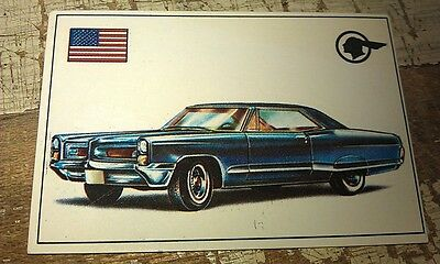 PONTIAC GRAND PRIX  - Famous Cars by Top Sellers Ltd UK Trade Card