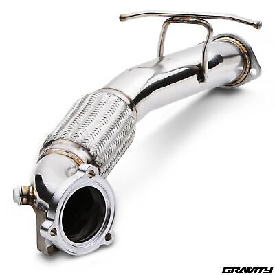 "3"" Exhaust Front Downpipe Down Pipe For Ford Focus Mk2 Rs St 225 St225"