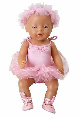 Pink Ballet Tutu+ Headdress For 18 Inch Dolls Our Generation Design A Friend
