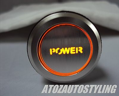 Savage POWER Engine Start Push Button Switch Car *Amber LED*   EXCLUSIVE