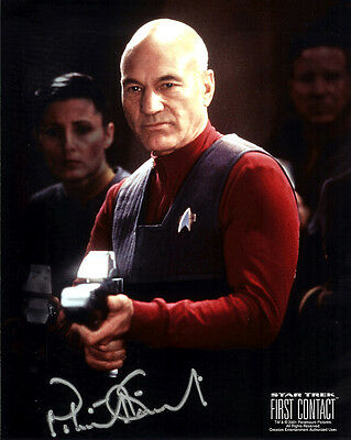 Patrick Stewart (Captain Picard) Signed Photo Print 02