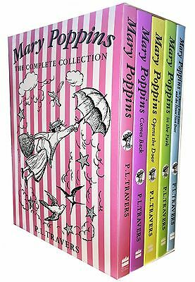 Mary Poppins The Complete Collection 5 Books Box Set Pack Mary Poppins Come Back