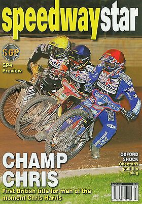 SPEEDWAY STAR magazine 9/6/07 feat. British Final @ Wolverhampton