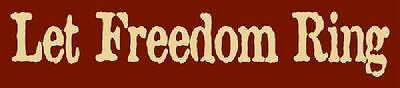 ~ITEM #4927 A PRIMITIVE STENCIL ~ LET FREEDOM RING