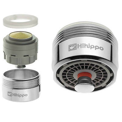 Water Saving 48% Hihippo Tap Aerator Start/Stop Button Nozzle For Kitchen Faucet