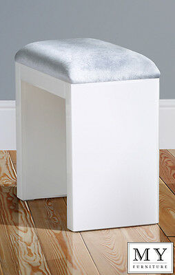 Mirrored Furniture White Glass High Gloss - STOOL