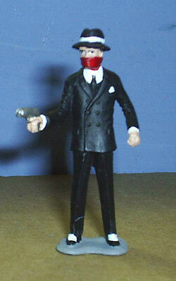 TOY SOLDIERS METAL AMERICAN 1930'S GANGSTER BANK ROBBER 54MM