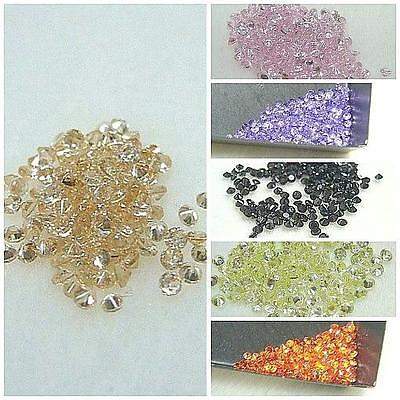 AA GRADE - LAB CREATED CZ ROUND LOOSES (COLORED) (1mm~1.75mm) (25pcs/lot)