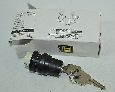 Square D 3 Position Maintained Rotary Key Switch Model# D3L60
