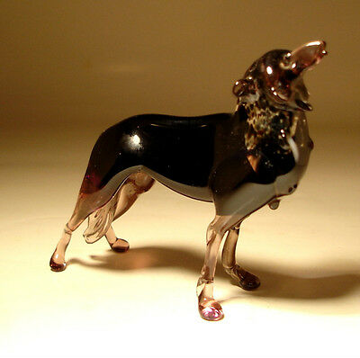 Blown Glass Art Wild Animal Figurine WOLF Statue