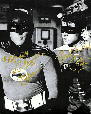 Adam West And Burt Ward (Batman And Robin) Signed Photo Print 02