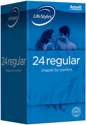 New Ansell Life Styles Regular 24 Pack Easy Fit Condoms
