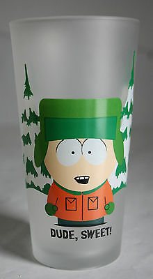 VERY RARE 2000 SOUTH PARK DRINKING GLASS KYLE BROFLOVSKI 13cm HIGH ! NEW !
