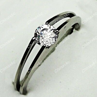 20pcs Wholesale Jewelry 316L Stainless steel Clear Cubic Zircon Upscale Rings
