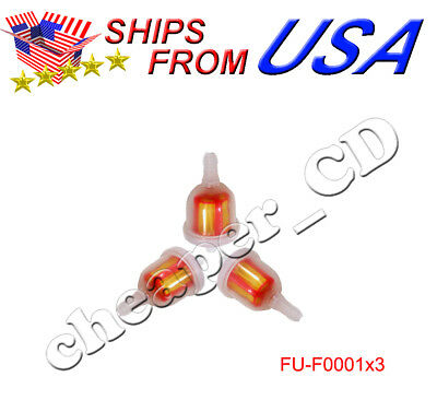 3pcs Gas Fuel Filter Go Kart Moped Scooter Dirt Bike ATV TaoTao sunl chinese