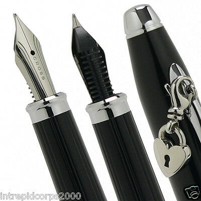 Cross Sentiment Black  with glittering pavé-textured center accent Fountain Pen