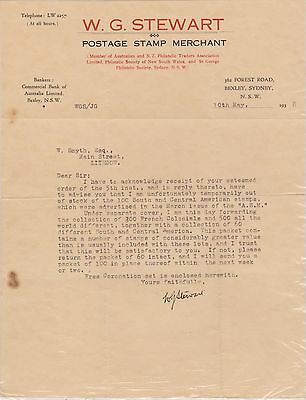 (R8-46) 1938 Australia philatelic letter from WG Stewart