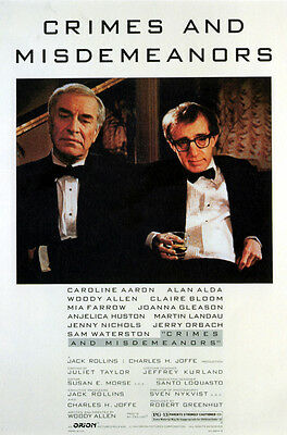 Crimes And Misdemeanors (Woody Allen And Mia Farrow) Mini Film Poster Print 01
