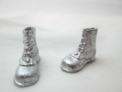 Men/'s Boots Dollhouse Miniature Unfinished Metal Shoes