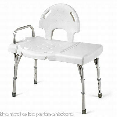 Invacare Heavy Duty Bath Tub Shower Transfer Seat Bench Bathroom Stool Chair