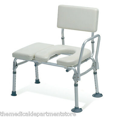 Guardian Padded Transfer Bench w/ Commode Opening 300lb Capacity G98013KD