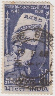 (IB78)1968 INDIA 20p 25th anni of Azad Government ow572