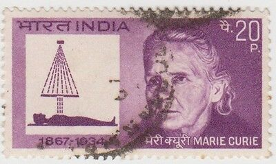 (IB86) 1968 INDIA 20p birth cent of marie curie ow574