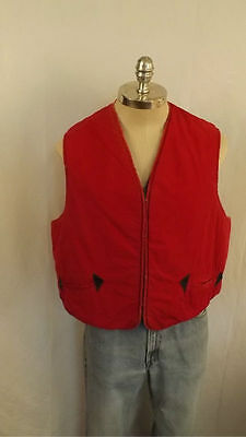 Vtg 50's Warmster Rubber Insulated Sportster Vest USA Made Work/Chore/Hunting XL