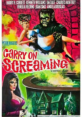 Carry On Screaming - Kenneth Williams - A4 Laminated Mini Poster