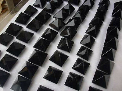 100 Pieces Natural Obsidian Crystal Pyramids Healing Wholesales Price,19-21mm